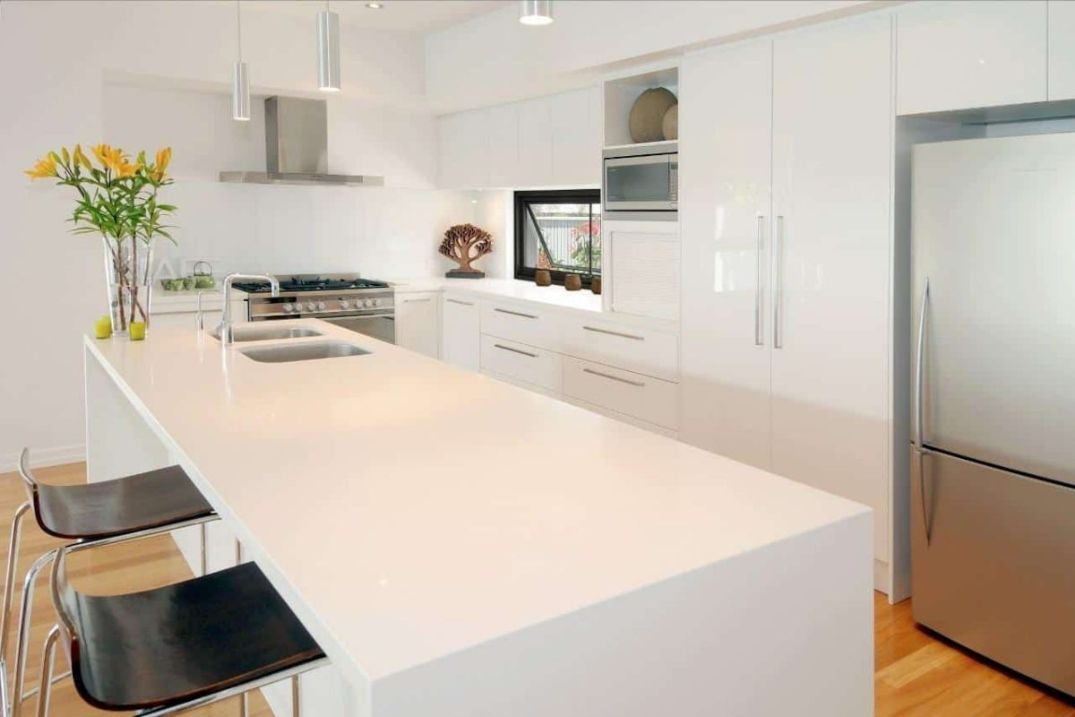Clean and White Kitchen — Askin Cabinets in Caloundra, QLD