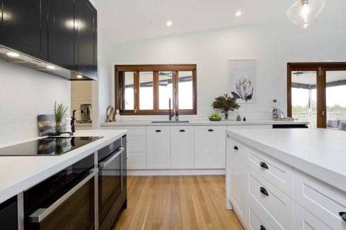 Kitchen cabinets in Sunshine Coast home