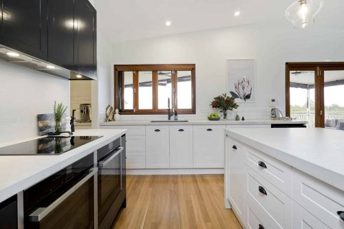 Kitchen cabinets in Sunshine Coast home